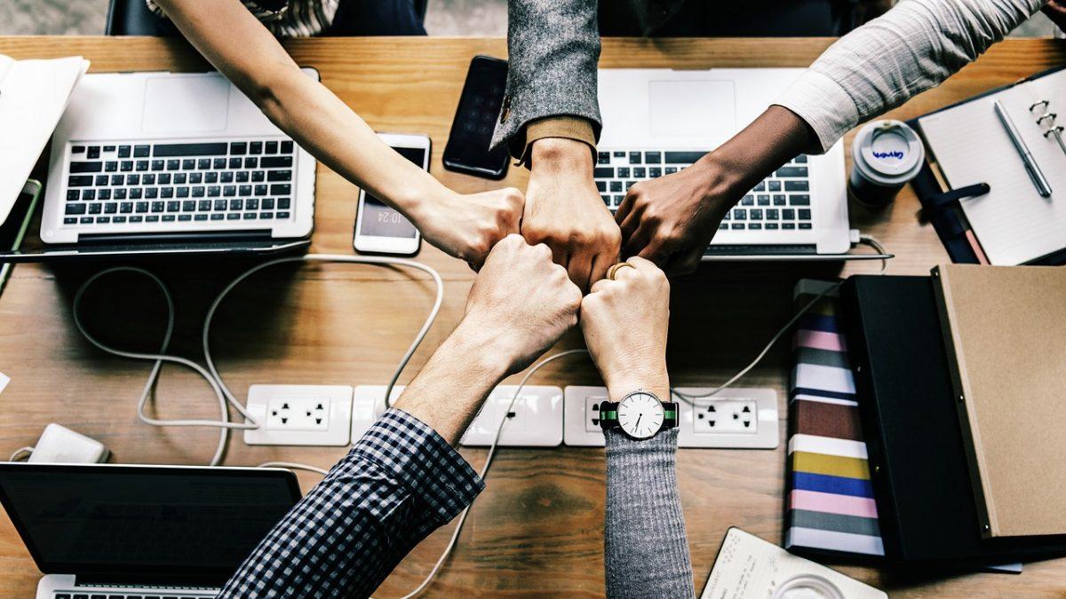 Equipe de trabalho unida